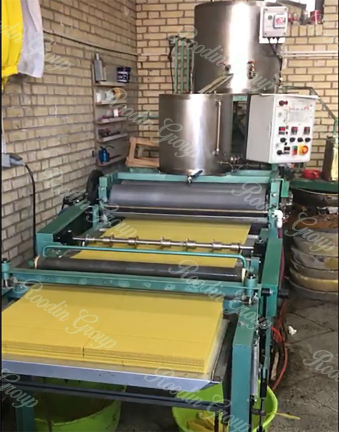 Beeswax Foundation Machine